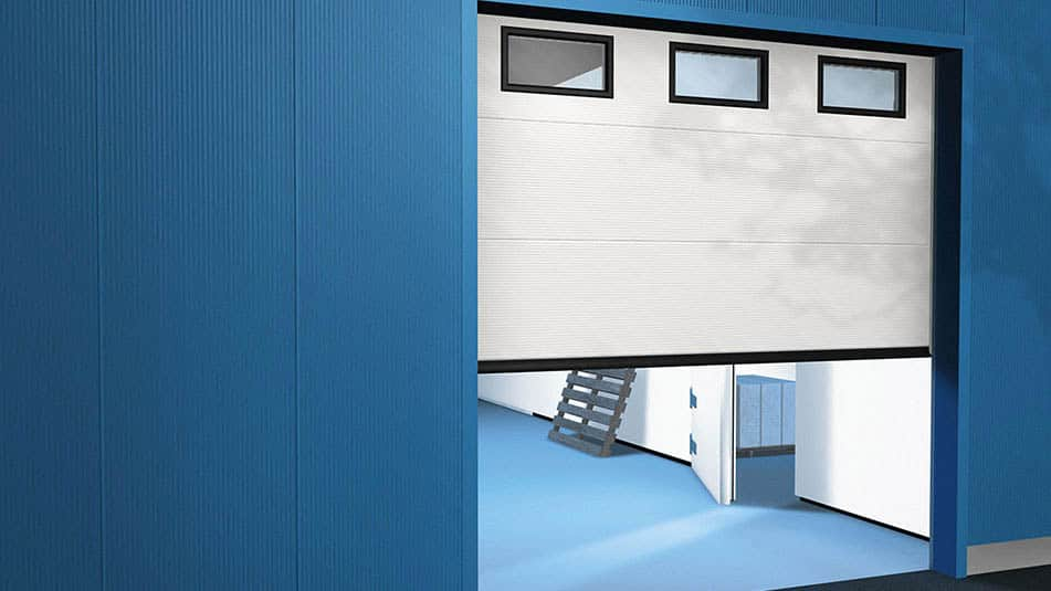 KONE sectional overhead doors are a durable and space-efficient solution.